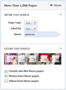 refine graph search pages